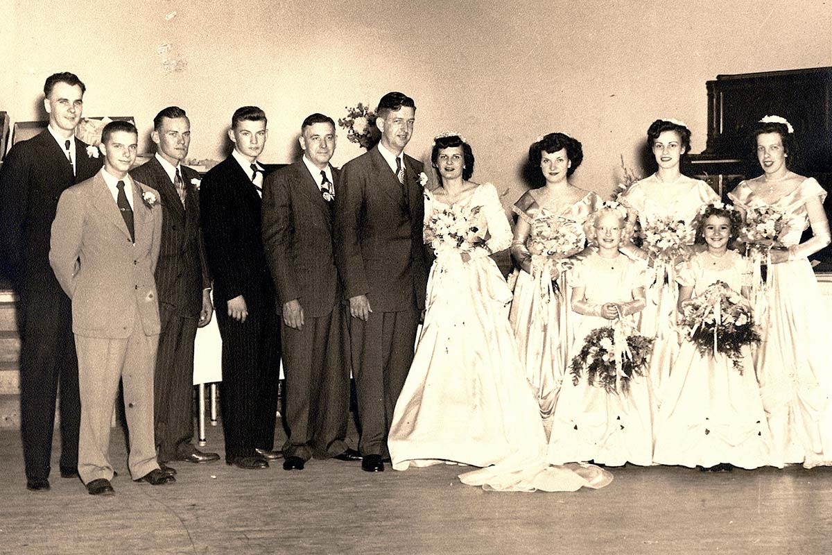 Wedding of Sheldon and Ruth (Richter) Burmaster